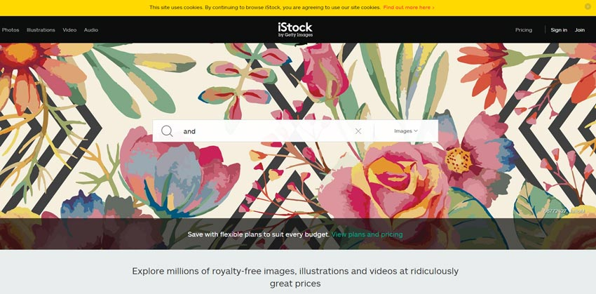 istock-homepage-with-search